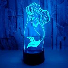 lampara 3d de la sirenita