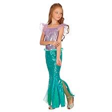 vestidos de sirena para niñas