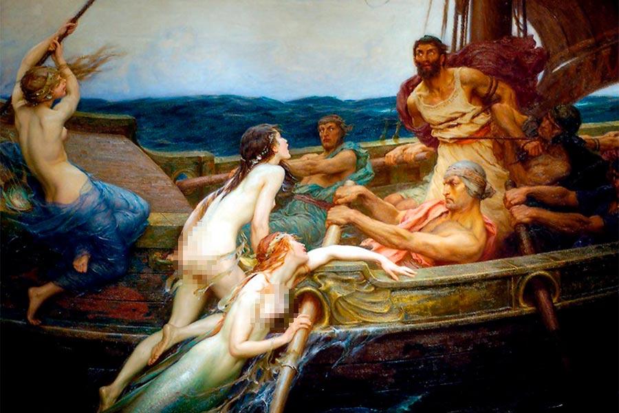 sirenas y marinos en la mitologia
