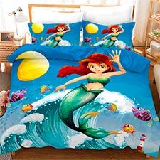 ropa de cama con sirenas