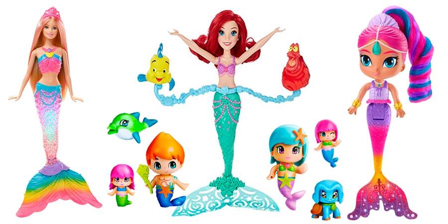 juguetes de sirenas hermosas