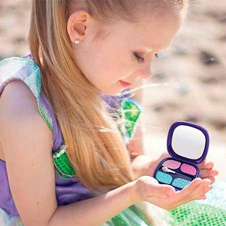 maquillaje de sirena para niñas